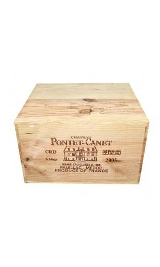 Château Pontet Canet 2003 (CBO 6 magnum)