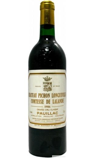 Château Pichon comtesse lalande 1986
