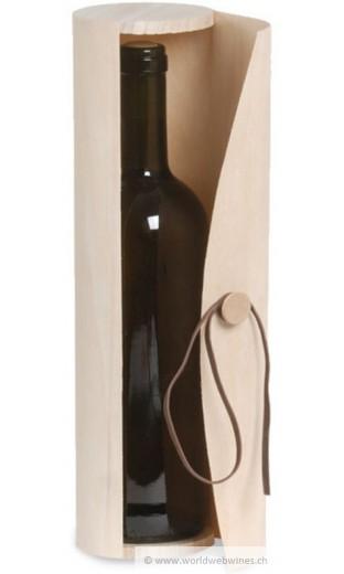 Coffret en bois cylindrique pour 1 bout. Bordeaux