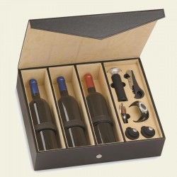 "Wine case ""Onyx"" with accessories - 3  bottles"