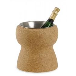 Seau à champagne en liège avec intérieur inox