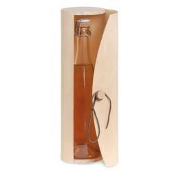 Coffret en bois cylindrique pour 1 bout. champagne