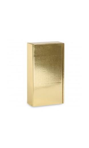 """Boîte en carton """"couleur or"""" pour deux bouteilles de vin"""