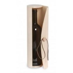 Coffret en bois cylindrique pour demi-bouteille (0.375 l)
