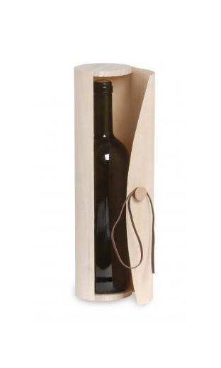 Coffret en bois cylindrique pour demi-bottle