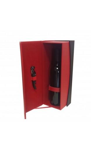 Coffret bicolore rouge et noir - 1 bout.