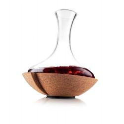 Carafe Swirling avec socle liége pivotant - Vacu vin