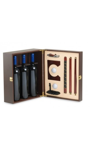 "Wine case ""golf"" with accessories - 3  bottles"