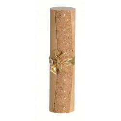 Coffret en bois cylindrique avec ornements dorés pour 1 bout. Bordeaux