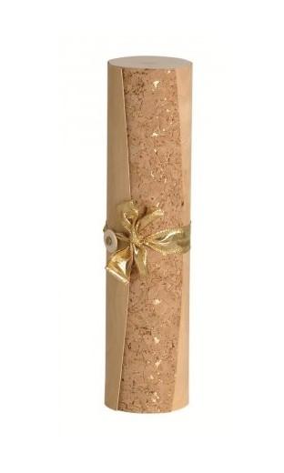 Coffret en bois cylindrique avec pour 1 bout. Bordeaux