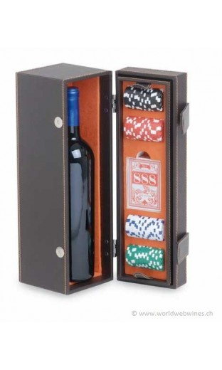 "Wine case ""poker"" with accessories"