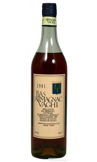 "Bas Armagnac ""Vaghi"" 1981"