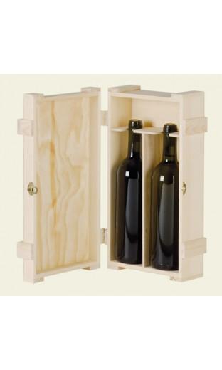wood case for 2 bottles of Bordeaux