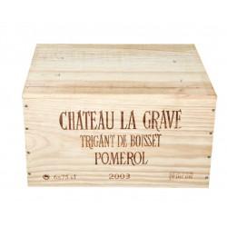 Château La Grave à Pomerol 2003 (caisse de 6 bout.)